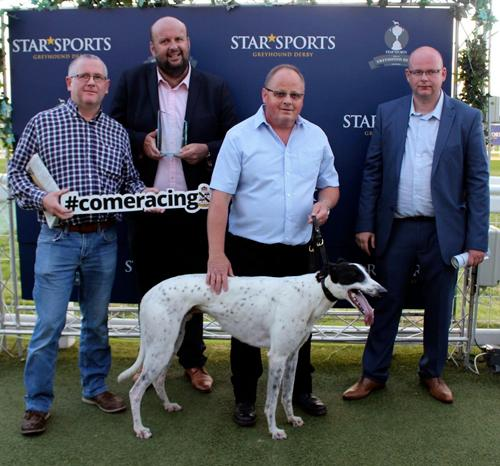A €1million greyhound subjected to a high-profile 'dog-napping' could be in line to land the biggest prize in racing when it lines up in the English Greyhound Derby at Towcester.