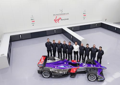 DS Virgin Racing Formula E team in its new 11,000 sq ft headquarters at Silverstone Park.