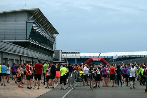 Behind the Finish line at the Silverstone Grand Prix 10k 2018