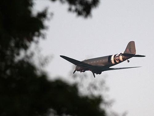 Quick snap of Batlle of Britain Flight Dakota last night