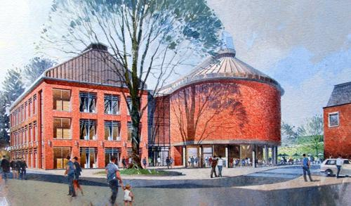Artist's impression of the new Council offices and civic building in Towcester