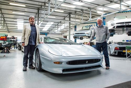 Keith Helfet (left) and Jim Randle (right) reunited with their stunning XJ220