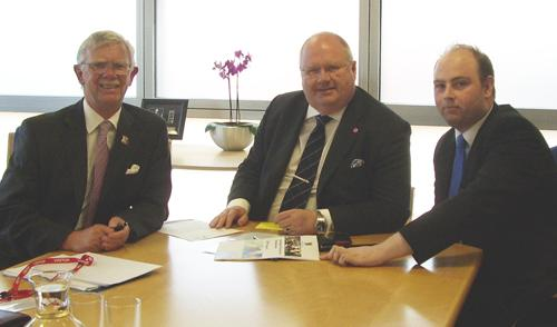 Councillors Harker and Mackintosh with Eric Pickles MP.