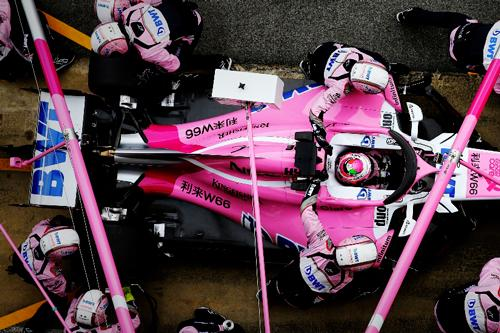 Silverstone based F1 Sahara Force India broke the 150-lap barrier on a productive day of testing in Barcelona.