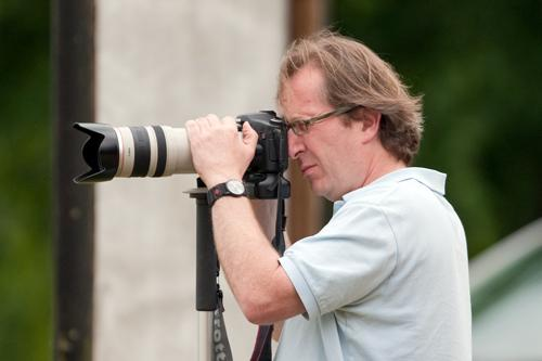 The Editor with his trusty camera. Photo Nigel Heath