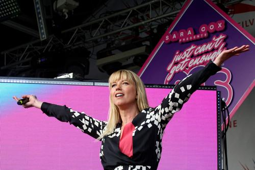 On Thursday 5 July, the opening night of the British Grand Prix weekend, Sara Cox presents Just Can't Get Enough 80's and will be joined on stage with guests from the era including Katrina from Katrina and the Waves and Go West.