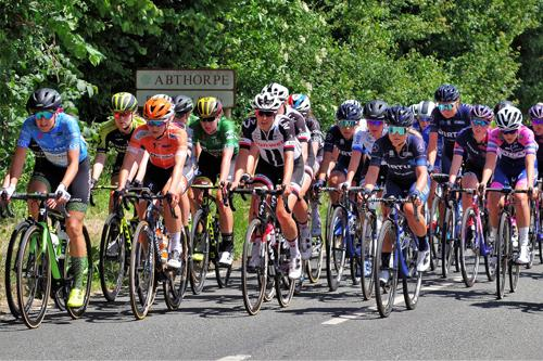 The Women's Tour of Britain passes through Abthorpe. (Photograph courtesy of Louise Gough).