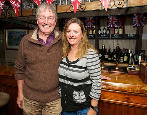 Plough landlord Nick Hasting's welcomes his wife Michele back to Blighty after 1300 cycle marathon across Canada
