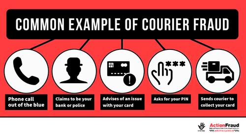 Detectives from Northamptonshire Police's Fraud Team are encouraging members of the public to make their elderly relatives aware of courier fraud.