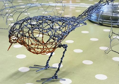 Learn the art of Wire Sculpture at Bay Tree Cottage