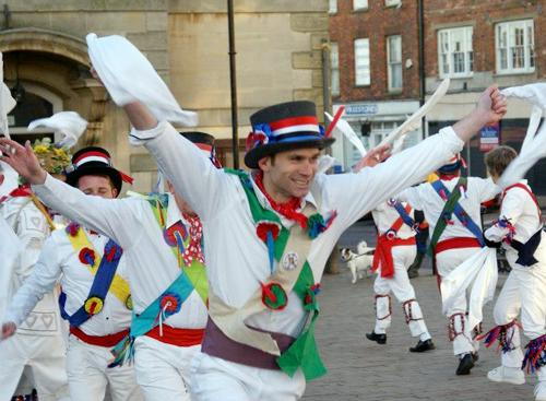 The Brackley Morris Men, May Day morning
