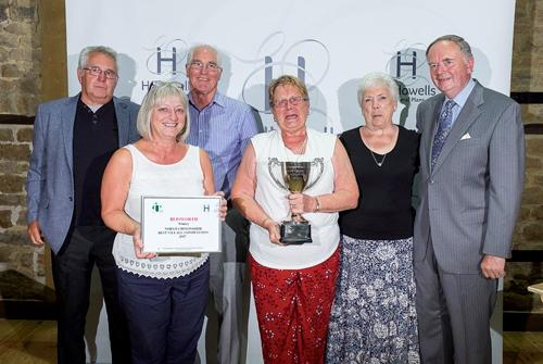 2017 BVC Winner Blisworth showing villagers Colin Gardness, Jennie Whaton, Tony Hillier & Janet Steeper with
