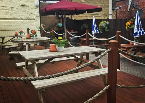 We've been hard at work here at The Plough making sure we're ready for the Summer! Our patio has been Jet Washed, the decking has been painted, flower baskets planted and our music playlist is suitably summery.