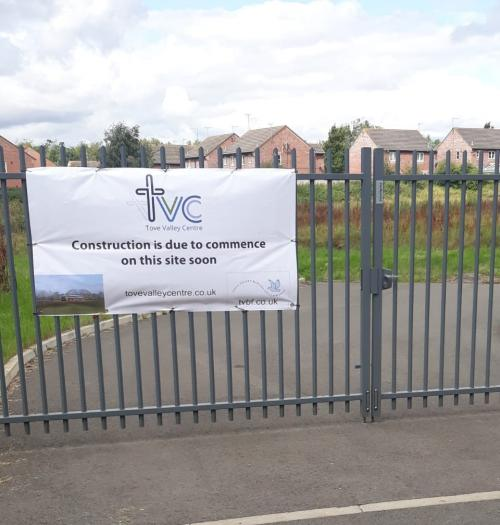 TVC site gate banner