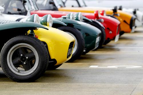 Huge track parade of Sevens and Caterham 7s on Saturday