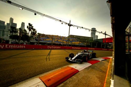 Brackley based F1 Mercedes-AMG Petronas Motorsport gear up for three-way fight under the lights of Singapore