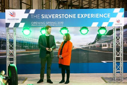 HRH Prince Harry with Sally Reynolds CEO of The Silverstone Experience