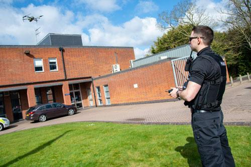 Eight police officers working on response teams have been trained as drone pilots and two new drones and associated equipment have been purchased to give the Force a 24/7 drone capacity.