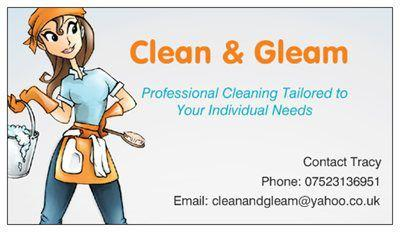 Clean & Gleam, Professional Cleaning Services, Rugby