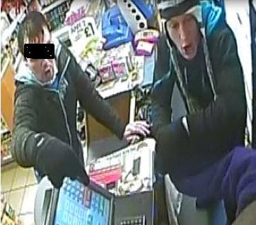 The second image below relate to another armed robbery a week earlier, on Christmas Eve (24 December), at the Premier Stores in Towcester Road, Stony Stratford.
