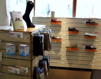 Feet First Foot Care includes a specialist footwear shop