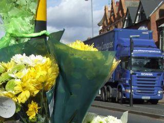 High Street lorry - stock shot