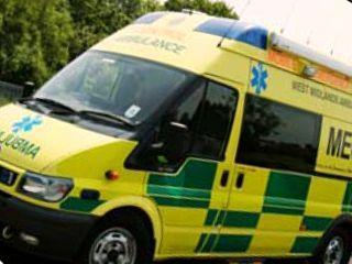 West Midlands ambulance (stock shot)