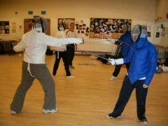 Epsom_Fencing_Club_Adult_Fight_Practice