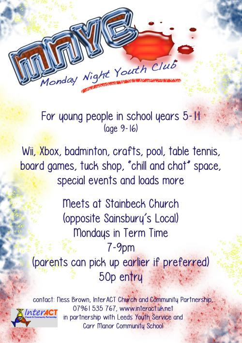 Poster for Monday Night Youth Club