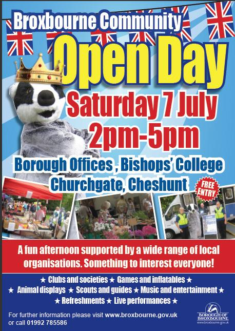 Broxbourne Open Day 2012 Flyer