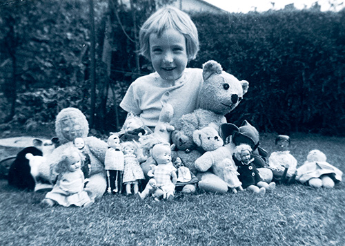 Five year old Ellen Goodfellow surrounded by her toys in 1960 Follow @