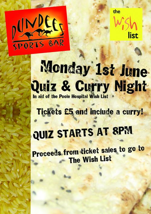 Quiz & Curry Night - Wish List - AboutMyArea - Poole