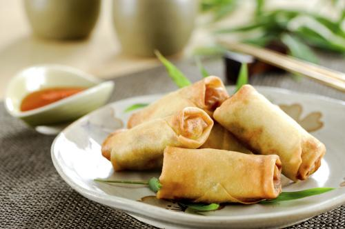 The Green Room's Simple Winter Vegetable Spring Rolls