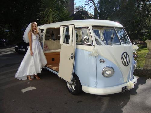 Dorset Dubhire's VW camper Lulu and dress by House of Tammam