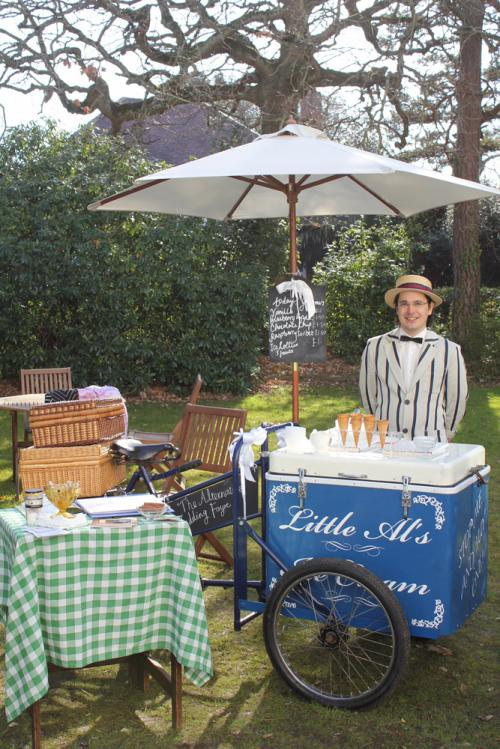 Little Al's vintage ice cream trike at the Green House Hotel's Alternative Wedding Fayre