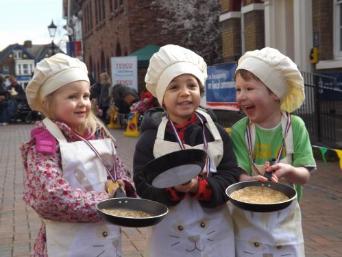 Under 5s Heat Winners at Waltham Abbey Pancake Day Races 2014