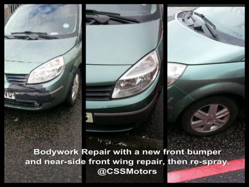 CSS Motors body work repair before and after