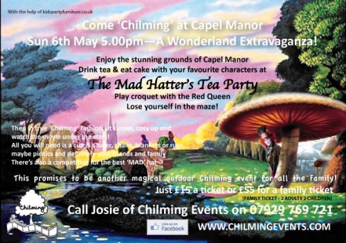 Mad Hatter's Tea Party Chilming event Capel Manor Gardens