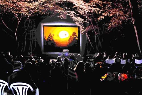 Chilming outdoor cinema event