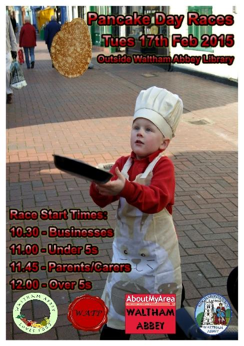 Waltham Abbey Pancake Day Races 2015 poster image