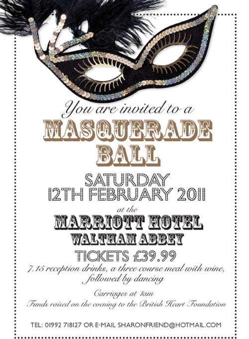 Valentines Charity Masquerade Ball Poster