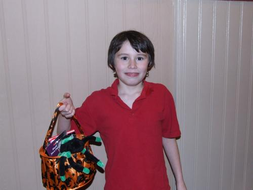 Conner Cross Competition winner with his goody bag prize