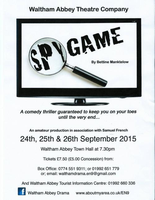 Spy Game flyer