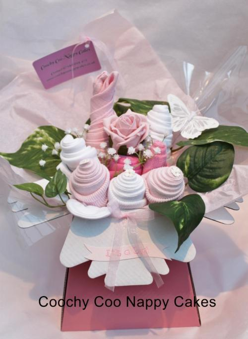 Coochy Coo Nappy Cake - bouquet design