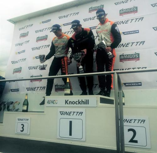 Ben Green on 3rd place podium at Knockhill