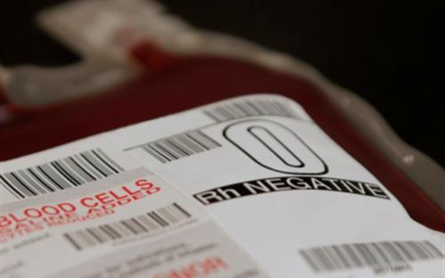 O Negative blood bag image
