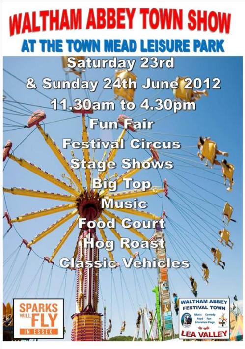 Waltham Abbey Town Show 2012 poster