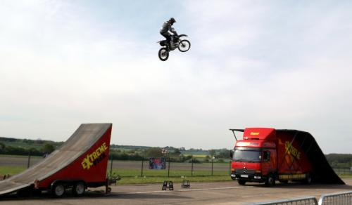 Extreme Stunt Show FMX rider in action