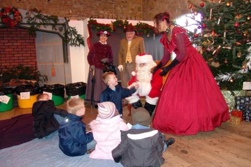 Children meeting Father Christmas at Royal Gunpowder Mills