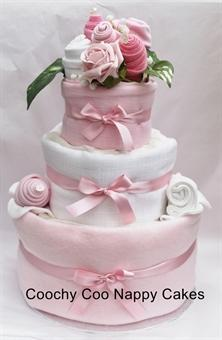 Coochy Coo Nappy Cake - 3 tier nappy cake